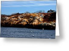 Rockport Shore Rocks - Greeting Card Greeting Card