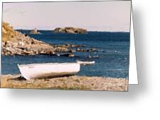 Shoreline Boat Greeting Card