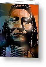 Shoshone Brave Greeting Card