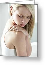 Shoulder Pain Greeting Card