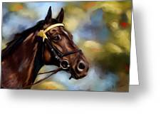 Show Horse Painting Greeting Card