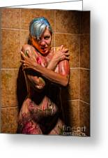 Shower Paint Greeting Card