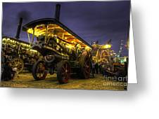 Showmans Engine By Night  Greeting Card