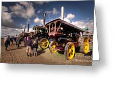 Showmans Engines At Dorset  Greeting Card