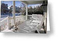 Showy Porch Greeting Card