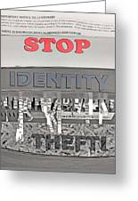 Shred Your Identity 2 Greeting Card