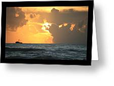 Shrimp Boat Sunrise Greeting Card