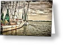 Shrimp Boats Greeting Card