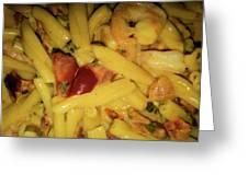 Shrimp N Pasta Greeting Card