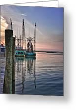 Shrimpin' Boats Greeting Card