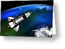 Shuttle On Orbit Greeting Card