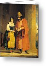 Shylock And Jessica From 'the Merchant Of Venice' Greeting Card