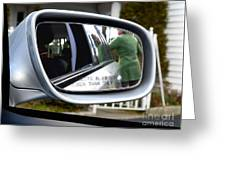 Side View Mirror Greeting Card