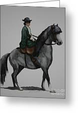 Sidesaddle Greeting Card