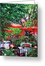 Sidewalk Cafe Greeting Card