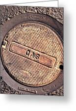 Sidewalk Gas Cover Greeting Card