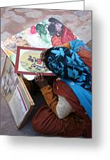 Sidewalk Sale Greeting Card by Tia Anderson-Esguerra