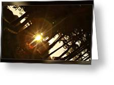 Sideways Sunset Greeting Card