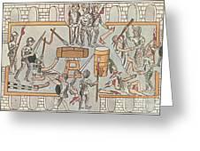Siege Of Tenochtitlan, 1521 Greeting Card