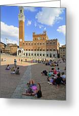 Siena Italy - Piazza Del Campo Greeting Card