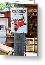 Sign - Fire Chief Gasoline Greeting Card