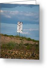 Sign At The Gulf Of Bothnia Greeting Card