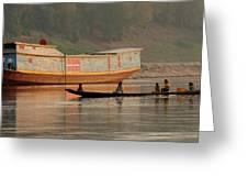 Silence On The Mekong Greeting Card