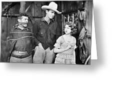 Silent Film: Cowboys Greeting Card