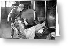 Silent Film Still: Accidents Greeting Card