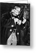 Silent Film Still: Clown Greeting Card