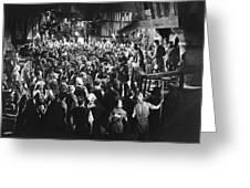Silent Film Still: Crowds Greeting Card