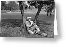 Silent Film Still: Golf Greeting Card