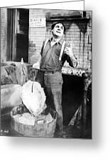 Silent Film Still: Iceman Greeting Card by Granger
