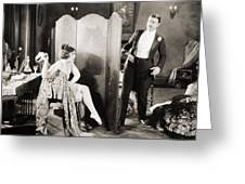 Silent Film Still: Legs Greeting Card