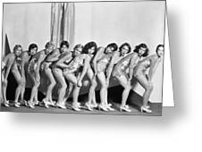 Silent Still: Showgirls Greeting Card