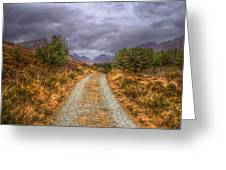 Silent Valley Road Greeting Card by Matthew Green