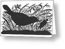 Silhouette: Bird & Insect Greeting Card