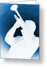 Silhouette Trumpet Greeting Card