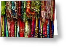 Silk Dresses In Vietnam Greeting Card