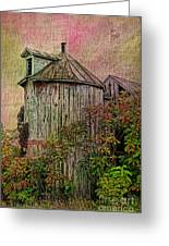 Silo In Overgrowth Greeting Card