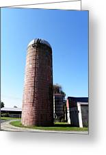 Silo In Red Greeting Card