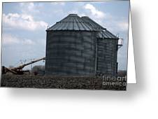 Silos And Augers Greeting Card