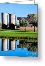 Silos On The Green Greeting Card