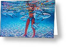 Silver Barb Reflections Greeting Card