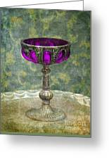 Silver Chalice With Jewels Greeting Card by Jill Battaglia