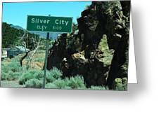 Silver City Nevada Greeting Card