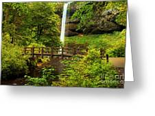 Silver Falls Bridge Greeting Card