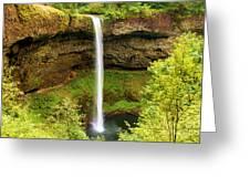 Silver Falls South Falls Greeting Card