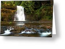 Silver Falls Waterfall Greeting Card