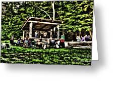 Silver Lake One Man Jam Fest Greeting Card